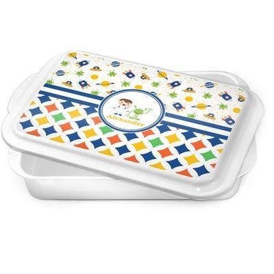 Boy's Space & Geometric Print Cake Pan (Personalized)