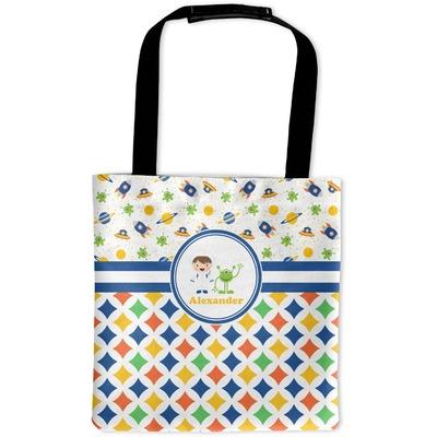 Boy's Space & Geometric Print Auto Back Seat Organizer Bag (Personalized)