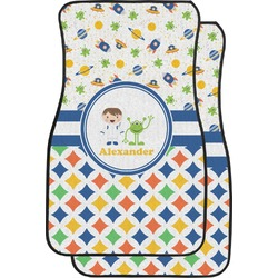 Boy's Space & Geometric Print Car Floor Mats (Front Seat) (Personalized)