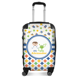 Boy's Space & Geometric Print Suitcase (Personalized)
