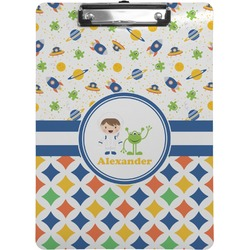Boy's Space & Geometric Print Clipboard (Personalized)