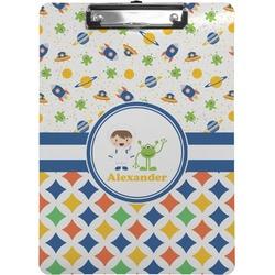 Boy's Space & Geometric Print Clipboard (Personalized)
