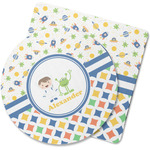 Boy's Space & Geometric Print Rubber Backed Coaster (Personalized)