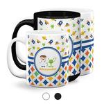 Boy's Space & Geometric Print Coffee Mugs (Personalized)