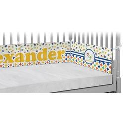 Boy's Space & Geometric Print Crib Bumper Pads (Personalized)