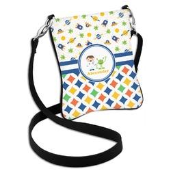 Boy's Space & Geometric Print Cross Body Bag - 2 Sizes (Personalized)