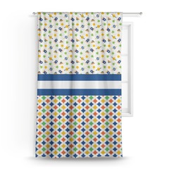 """Boy's Space & Geometric Print Curtain - 50""""x84"""" Panel (Personalized)"""