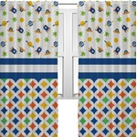 Boy's Space & Geometric Print Curtains (2 Panels Per Set) (Personalized)