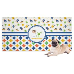 Boy's Space & Geometric Print Pet Towel (Personalized)