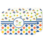 Boy's Space & Geometric Print Dish Drying Mat (Personalized)