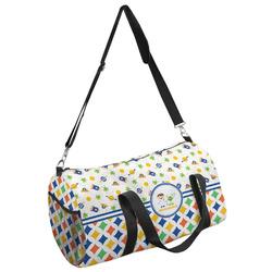Boy's Space & Geometric Print Duffel Bag - Multiple Sizes (Personalized)