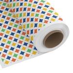 Boy's Space & Geometric Print Custom Fabric by the Yard (Personalized)