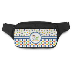 Boy's Space & Geometric Print Fanny Pack (Personalized)