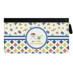 Boy's Space & Geometric Print Genuine Leather Ladies Zippered Wallet (Personalized)