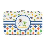 Boy's Space & Geometric Print Genuine Leather Small Framed Wallet (Personalized)
