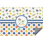 Boy's Space & Geometric Print Indoor / Outdoor Rug (Personalized)
