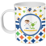 Boy's Space & Geometric Print Plastic Kids Mug (Personalized)