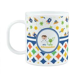 Boy's Space & Geometric Print Plastic Kids Mug (Personalized)