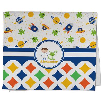 Boy's Space & Geometric Print Kitchen Towel - Full Print (Personalized)