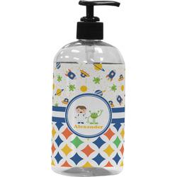 Boy's Space & Geometric Print Plastic Soap / Lotion Dispenser (Personalized)
