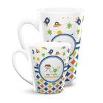 Boy's Space & Geometric Print Latte Mug (Personalized)