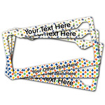 Boy's Space & Geometric Print License Plate Frame (Personalized)