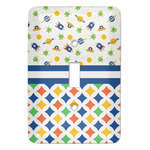 Boy's Space & Geometric Print Light Switch Covers (Personalized)