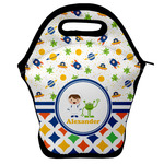 Boy's Space & Geometric Print Lunch Bag w/ Name or Text