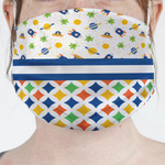 Boy's Space & Geometric Print Face Mask Cover (Personalized)