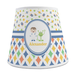 Boy's Space & Geometric Print Empire Lamp Shade (Personalized)