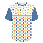 Boy's Space & Geometric Print Men's Crew T-Shirt (Personalized)