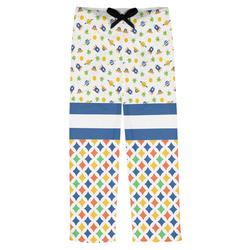 Boy's Space & Geometric Print Mens Pajama Pants (Personalized)