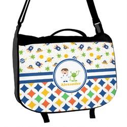 Boy's Space & Geometric Print Messenger Bag (Personalized)