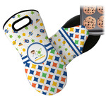Boy's Space & Geometric Print Neoprene Oven Mitt (Personalized)