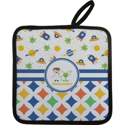 Boy's Space & Geometric Print Pot Holder (Personalized)