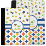 Boy's Space & Geometric Print Notebook Padfolio w/ Name or Text