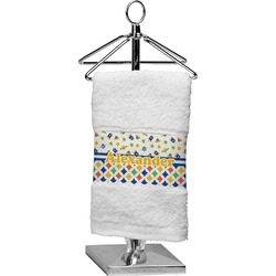 Boy's Space & Geometric Print Finger Tip Towel (Personalized)