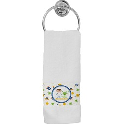 Boy's Space & Geometric Print Hand Towel (Personalized)