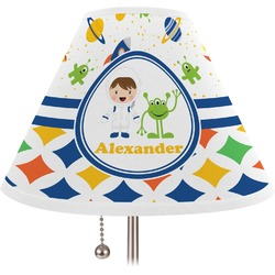 Boy's Space & Geometric Print Lamp Shade (Personalized)