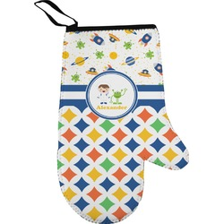 Boy's Space & Geometric Print Oven Mitt (Personalized)