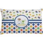 Boy's Space & Geometric Print Pillow Case - Standard (Personalized)