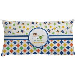 Boy's Space & Geometric Print Pillow Case (Personalized)