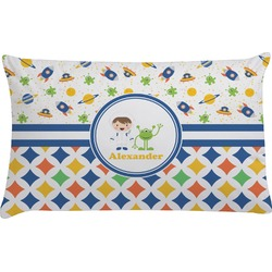 Boy's Space & Geometric Print Pillow Case (Personalized)