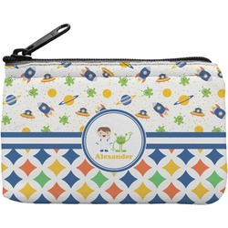 Boy's Space & Geometric Print Rectangular Coin Purse (Personalized)