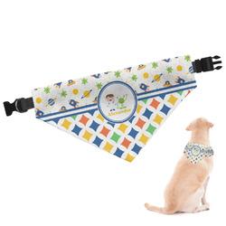 Boy's Space & Geometric Print Dog Bandana (Personalized)