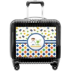 Boy's Space & Geometric Print Pilot / Flight Suitcase (Personalized)
