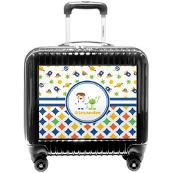 Boy's Space & Geometric Print Pilot / Flight Suitcase (Personalized)
