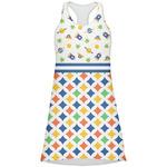 Boy's Space & Geometric Print Racerback Dress (Personalized)