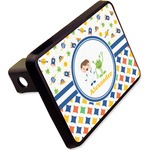"""Boy's Space & Geometric Print Rectangular Trailer Hitch Cover - 2"""" (Personalized)"""
