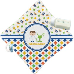 Boy's Space & Geometric Print Security Blanket (Personalized)